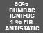 99% bumbac ignifug, 1% fir antistatic