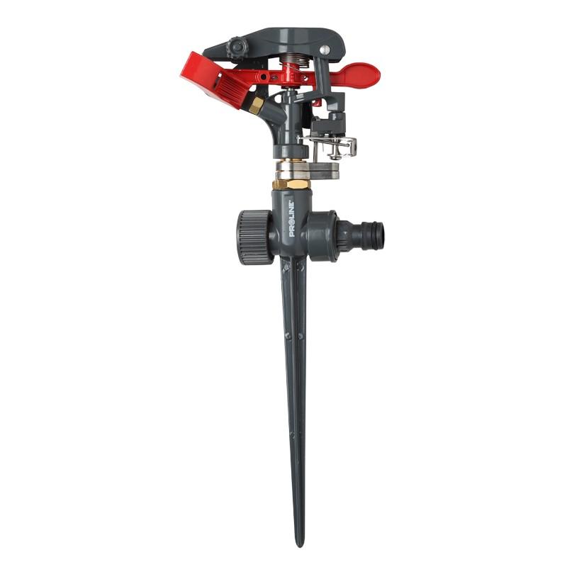 Aspersor pulsator Proline, reglabil, metalic, acoperire 550 mp