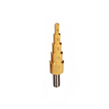 Burghiu metal hss-ti conic in trepte 4-12mm