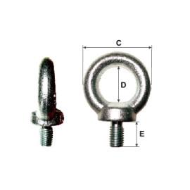 inel cu surub incorporat m10 / 25mm/41mm