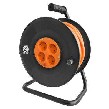 Prelungitor cu tambur 3x1.5mm² - 4 prize / 15m