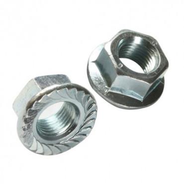 Piulite zincate hexagonale cu flansa m4, 1000/set