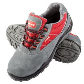 pantof piele-intoarsa-tesut / gri-rosu (s1psrc) - 39