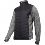 jacheta cu imprimeu si matlasare / gri-negru
