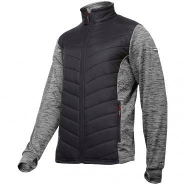 Jacheta cu imprimeu si matlasare / gri-negru - s
