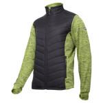 jacheta cu imprimeu si matlasare / verde-negru