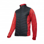 jacheta cu imprimeu si matlasare / rosu-negru