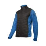 jacheta cu imprimeu si matlasare / albastru-negru