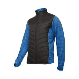 jacheta cu imprimeu si matlasare / albastru-negru - s