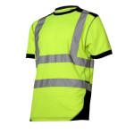 tricou reflectorizant / verde-negru