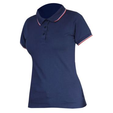 Tricou bumbac polo (dama) / albastru - s