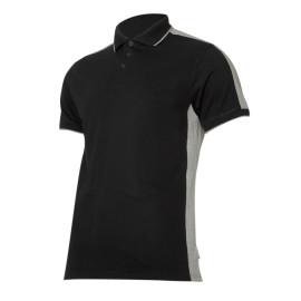 tricou bumbac polo multicolor / negru-gri - s