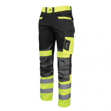 Pantalon reflectorizant slim-fit / verde - s