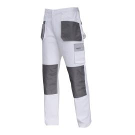 pantalon lucru mediu-gros bumbac / alb - s/48