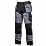 pantalon lucru gros premium negru-gri