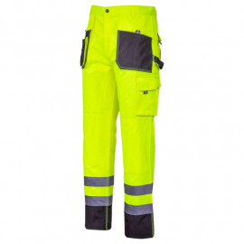 pantalon reflectorizant intarit / verde - s