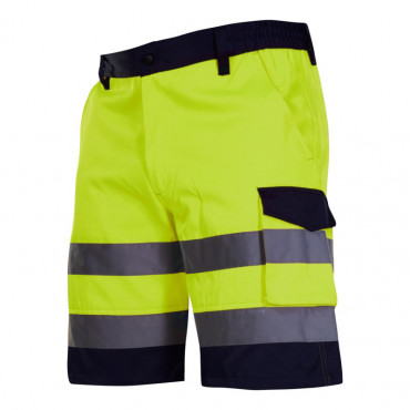 Pantalon reflectorizant scurt / verde - s
