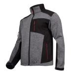 jacheta pulover cu insertii elastice/gri-negru