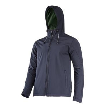 Jacheta elastica cu gluga / negru - s
