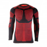 bluza de corp termoactiva / negru-rosu