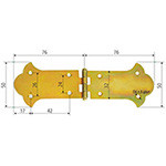 balama ornamentala pentru cufere 76x50mm