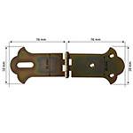balama ornamentala pentru cufere 51x38 mm