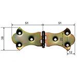 balama ornamentala pentru cufere 51x38mm