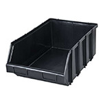 cutie plastic depozitare modulara 310x490x190mm / negru