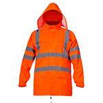 jacheta reflectorizanta impermeabila / portocaliu