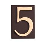 semn cifra cu placa adeziva fixare - 45mm / auriu