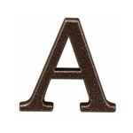semn litera cu surub fixare - 100mm / bronz