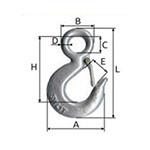 carlig zincat securizat rotativ cu inel 750kg / 24/22mm