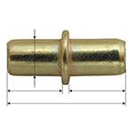 suport polita rotund cu guler 5x7mm / 5x17mm, 100/set